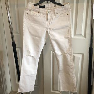 J.Crew Matchstick white jeans - like new!